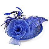 Cappello Fedora da donna Fascinators Cappello di piume Razze da sposa Cocktail Party Lino Fedora