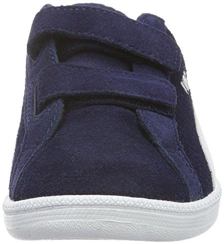 Puma Smash Fun Sd V Ps, Baskets Basses Mixte Enfant Bleu - Blau (PEACOAT-puma White 02)