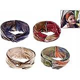 iwobi 4 Stück Damen Stirnband Haarband Kopfband Elastische Sportliche Headband für Yoga Gym Fitness Training