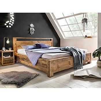 d265429276 Woodkings Bett 180x200 Havelock Doppelbett recycelte Pinie rustikal  Schlafzimmer Massivholz Design Ehebett Balkenbett Massive Naturmöbel  Echtholzmöbel ...