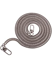 NF&E Solid Metal Chain Strap Replacement For Purse Shoulder Crossbody Bag Handbag Silver