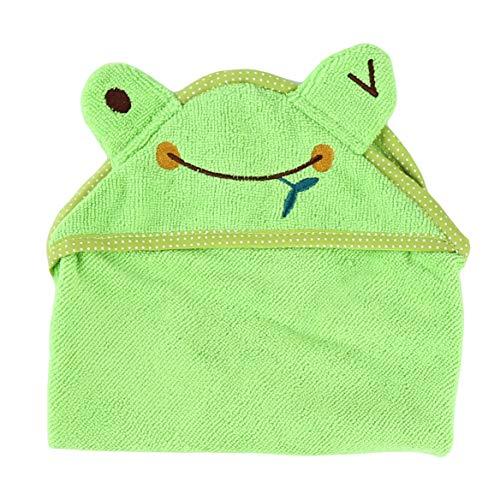 Beafavor Multifunktions Niedlichen Cartoon Pyjamas Hund Bademantel Saugfähigen Pet Badetuch Tier Welpen Katze Warme Decke Heimtierbedarf (L grünen Frosch) -