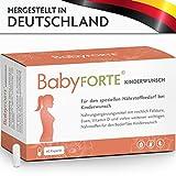 BabyFORTE Kinderwunsch • 60 Kapseln • 800 mcg Folsäure, Eisen & weitere Vitamine • Kinderwunschvitamine für die Vorbereitung des Körpers auf die Schwangerschaft • Vegan