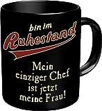 RAHMENLOS Original Kaffeebecher für den Pensionär: Bin im Ruhestand…Im Geschenkkarton 2606