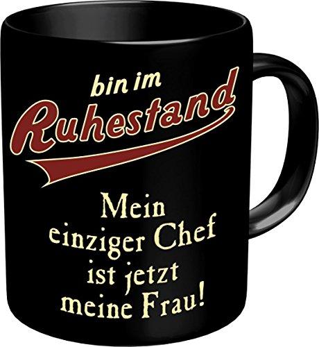 RAHMENLOS Original Kaffeebecher für den Rentner: Bin im Ruhestand-Im Geschenkkarton 2606