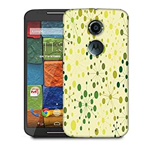 Snoogg Green Small Spots Designer Protective Phone Back Case Cover For Moto X 2nd Generation