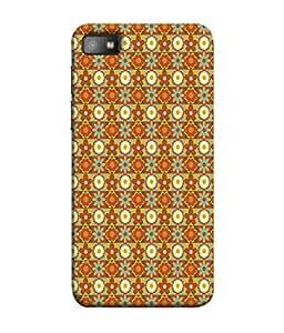PrintVisa Designer Back Case Cover for BlackBerry Z10 (Fabric Printed Designer Cloth Flower )