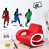 Pegatina de pared adhesiva jugador de baloncesto