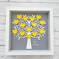 Family Tree Personalised Birthday Gift Mothers Day Idea Handmade And Framed