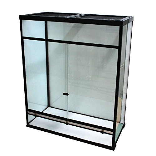 Glas-Terrarium 100x48x120 cm mit Schiebetüren inkl. Verriegelung