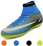 LSGEGO Botas de fútbol para Hombres Zapatos de fútbol con Tacones Altos Zapatos de Entrenamiento...
