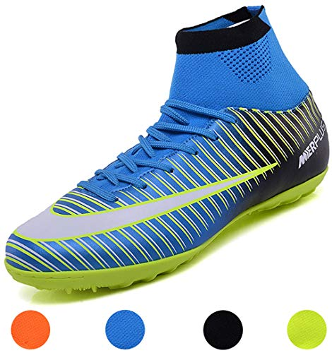LSGEGO Men s Football Boots Adult High Top Soccer Shoes Professional Spike  Training Shoes Outdoor Sneakers Teenagers 230f78cb8a
