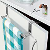 D.R Stainless Steel Over Cabinet Door Kitchen Towel Bar (9 x 2.5 x 0.78 IN)