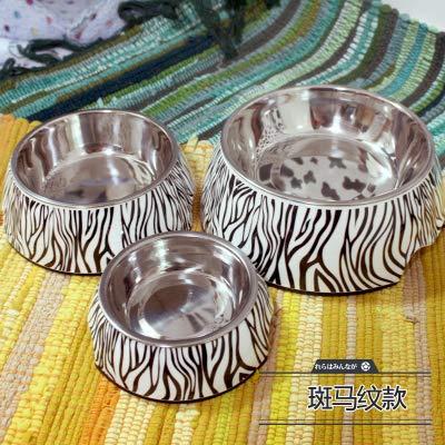 Pet Supplies,Raised Bowls & Feeding Stations for Dogs,Dog Bowls,Dogs,Cat Bowls,AnimalsPet supplies, rice bowl, single bowl, plastic color feeding bowl, zebra pattern, small 11*14*4.5cm -