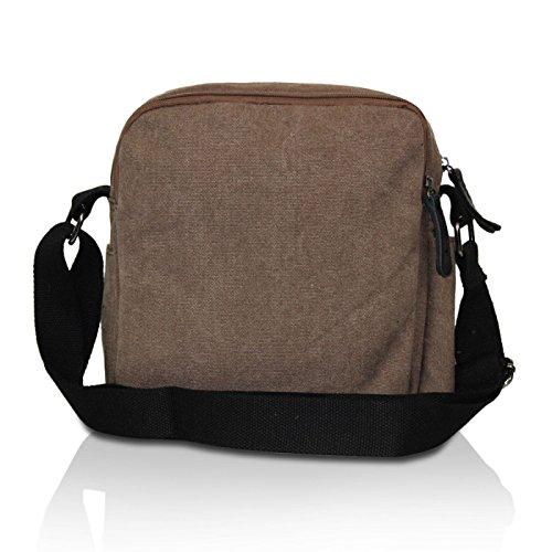 Glamexx24 Borsa a tracolla in stoffa borsa a mano e spalla con una bella stella Caffee