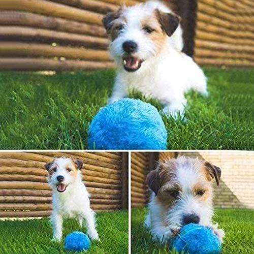 Comtervi Haustier-Elektrischer Spielzeug-Ball, Mini-Roboter-Reiniger-Haustier-Bälle für Hunde Rollender Ball-Katzen-Spielzeug, Elektrischer angetriebener sauberer Haushalts-Microfiber-Ball, 4pcs -