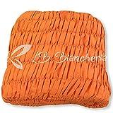 R.P. Sofabezug Universal gekräuselter–5Arbeitsplätze–Ecksofa–Uni Melange Orange