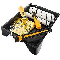 Coral 43500Fácil coater Kit de Pintura con un bloqueo y Mini rodillo para emulsión y brillo 7piezas Unidades