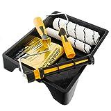 Coral 43500coater Easy Paint, Kit mit einem Headlock Kaffeebecher und Mini Roller Rahmen für Emulsion und Glanz, 7Stück Pack Set