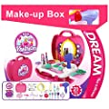 BOWA 21 Pcs Pretend Gift Makeup Carry Case Children's Princess Fashion Toy for Kids above 3 Years Old