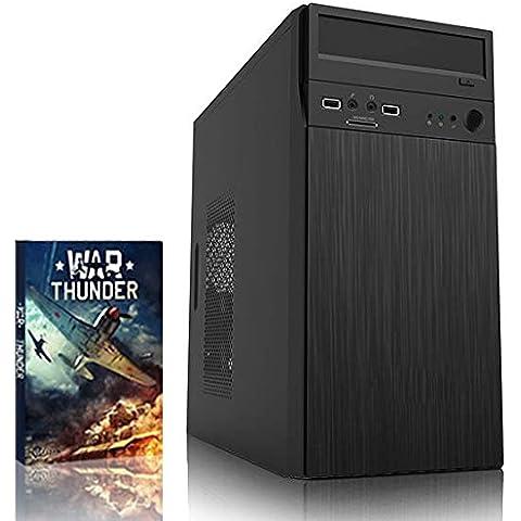 VIBOX Haswell 8 - 3,9GHz Inteli5 QuadCoreCPU, Ordenador de sobremesa con unidad central (3,5GHz (3,9GHz Turbo) SuperrápidoCPU ProcesadorQuad4-CoreIntelSkylake i5 6600K, 16 GB Memoria RAM de DDR4, velocidad de RAM: 2133MHz, 2TB(2000GB)SataIII7200 rpmdiscoduroHDD, Fuente de alimentaciàn de 85 +PSUAerocool500W, Acero Micro-ATXCaja, DVD-RW, Ningún sistema operativo)