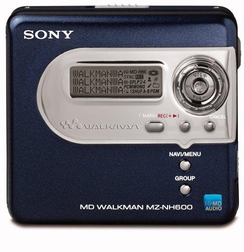 Sony MZ-NH600/L Tragbarer MiniDisc-Rekorder (Hi-MD) blau