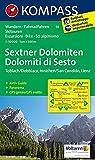 Sextner Dolomiten/Dolomit di Sesto - Toblach/Dobbiaco - Innichen/San Candido - Lienz: Wanderkarte mit Aktiv Guide, Panorama, Radrouten und alpinen ... 1:50000 (KOMPASS-Wanderkarten, Band 58)
