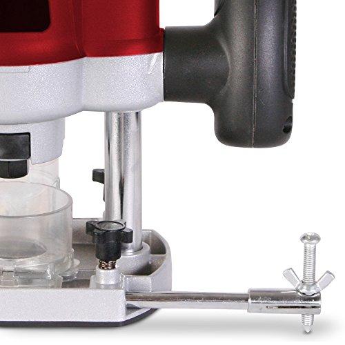 Oberfräse Fräsmaschine 1200W inklusive Fräser- & und Werkzeugset und Koffer TÜV-Rheinland GS geprüft - 4