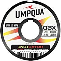 Umpqua Fly Fishing 03X 13LB Two-Color Neon High Visibility Bite Indicator Tippet by Umpqua