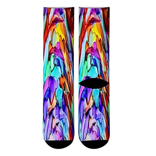 MINGYUECHAO Mode Neue 3D Gedruckt Street Art Malerei Crew Socken Männer Graffiti Malerei Lange Socken Street Trend Männer Kleid Rohr Socken (Color : 5) (Crew Gedruckt)