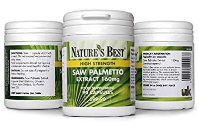 Saw Palmetto 1440mg - High strength Saw Palmetto extract- 100% UK-made- 90 capsules by Nature's Best