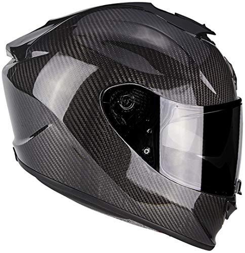 Scorpion 2476-25849 Casco para moto Exo 1400Air Carbon Solid, negro, M