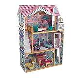 KidKraft 65934 Casa de muñecas de madera Annabelle para muñecas de 30cm con 17 accesorios incluidos y 3 niveles de juego
