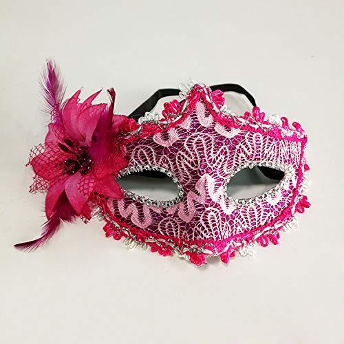 sjzc Damen Maske venezianischer Stil, Filigrane Spitze, sexy Augenmaske, ()