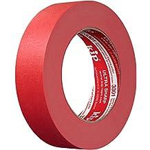 Kip Tape 301-30 Fijncrêpe – Professionele schilderstapel – geïmpregneerd afplakband voor het schilderen & lakken – 30 mm x 50 m, 30 mm x 50 m, rood, 1