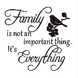 Rureng Familie Ist Nicht Eine Wichtige Sache Es Ist Alles Vinyl Vogel Im Baum Vintage Wandaufkleber Für Heimtextilien Wandgestaltung