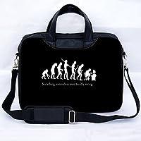 Sidorenko - Borsa in Nylon per notebook borsa a tracolla per PC portatili Laptop Sleeve Case 15-15.6 Pollici / MacBook Air / MacBook Pro con manici e tracolla tasche per accessori