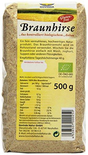 Govinda Braunhirse glutenfrei, 2er Pack (2 x 500 g)