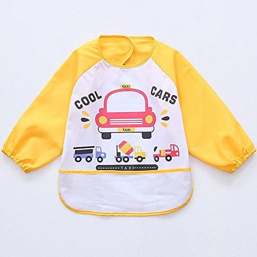 Oral-Q Unisex Bambini Arts Craft pittura grembiule bambino impermeabile Bavaglino con maniche e tasca, 6 (3 4 Camice Lunghezza)