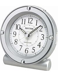 Rhythm(Japan) 4 Steps Increasing Beep Alarm,Snooze & LED Back Light Super Silent Alarm Clock 12.2x12.7x7.5cm