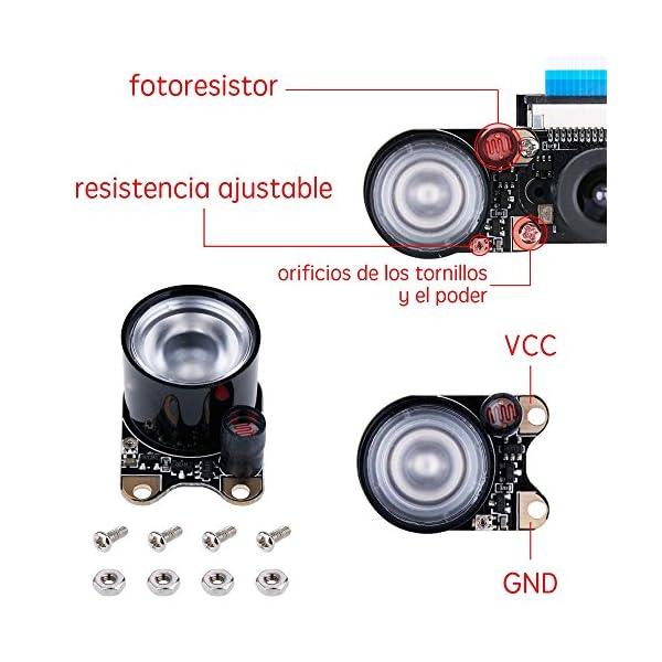 51TYQa3i4AL. SS600  - Zacro Módulo de Cámara con Sensor Cámara de Vídeo de HD Soporte Visión Nocturna para Raspberry Pi 3 Modelo B B + A + RPi 2 1 Cámara SC15