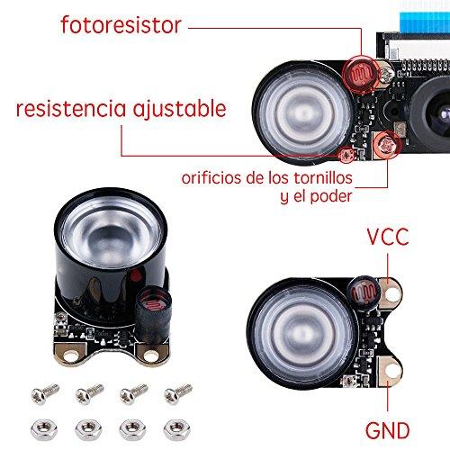 51TYQa3i4AL - Zacro Módulo de Cámara con Sensor Cámara de Vídeo de HD Soporte Visión Nocturna para Raspberry Pi 3 Modelo B B + A + RPi 2 1 Cámara SC15