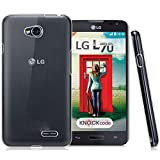 Newtronics Slim Thin Crystal Transparent Bumper Hard (not Soft TPU) Back Cover Case For LG L70
