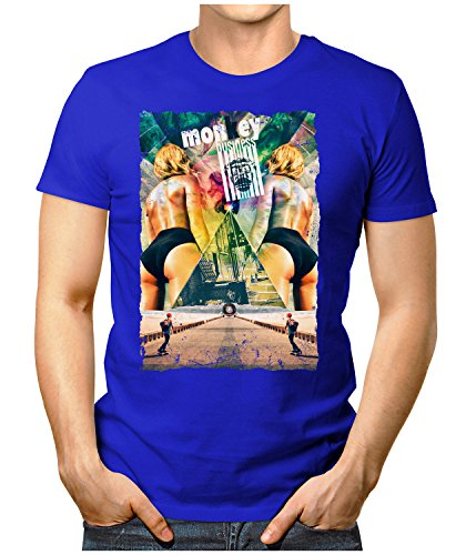 PRILANO Herren Fun T-Shirt - MONKEY-BUSINESS - Small bis 5XL - NEU Blau