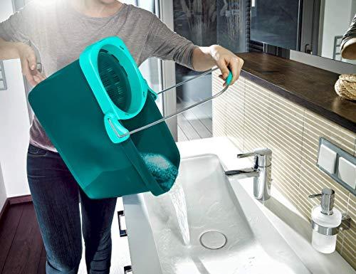 Leifheit Clean Twist System - Conjunto de fregona y Cubo de plástico, Color Turquesa