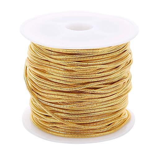 IPOTCH 10 Yards Kupfer Schlangenkette Kugelkette Metallkette Gliederkette Kabelkette zum Basteln für Halskette - Gold