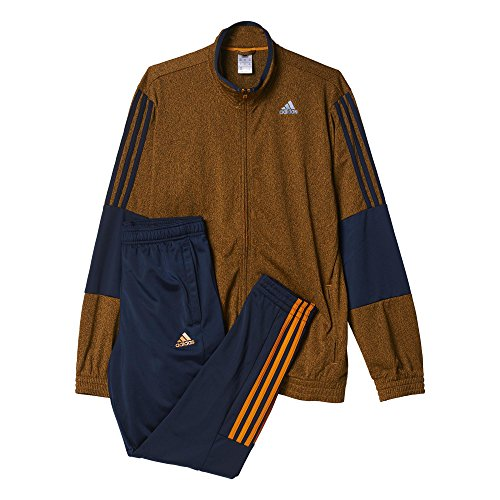 adidas Herren Trainingsanzug TS Iconic, Orange/Dunkelblau, 6, 4056562645469