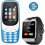 Captcha® Dual Sim Mobile With Money Detector Light With DZ09 Smart Watch Android Sim Card Slot - Smartwatch With TF Card Camera (1 Year Warranty) For Nokia XL A3310