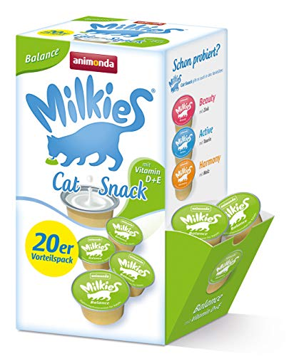 Animonda Milkies Multipack, Katzenmilch portioniert, Balance, 20er Pack (4 x 300 g)