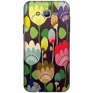 PrintlandPrintedHard Plastic Back Cover For Samsung Galaxy J7 -Multicolor